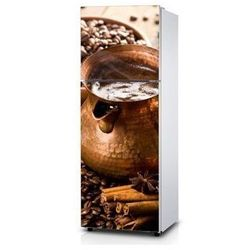 Naklejka na lodówkę - Parujące ziarna kawy - Naklejka laminowana