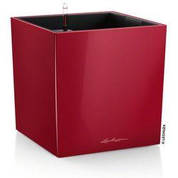 Donica Lechuza Cube 40 - czerwona - 40 x 40 x 40 cm, połysk - czerwony