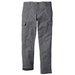 Spodnie bojówki ocieplane Regular Fit Straight bonprix dymny szary