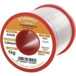 Cyna lutownicza z ołowiem Stannol 535258 Sn60Pb39Cu1 1.0 mm 1000 g