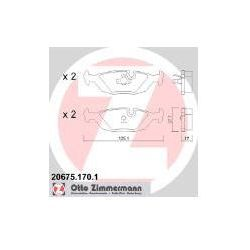 ZIMMERMANN Zestaw klocków hamulcowych, hamulce tarczowe - 20675.170.1