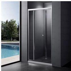 MASSI CASE Drzwi prysznicowe 80x185, szkło transparentne + powłoka EasyClean MSKP-FA920-80