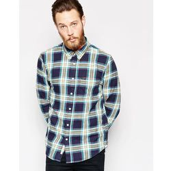 Lee Regular Fit Shirt Slub Twill Check in Navy - Navy