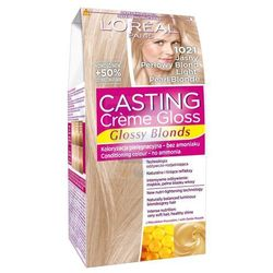 Loreal Paris Casting Creme Gloss Farba do włosów bez amoniaku Jasny Perłowy Blond nr 1021