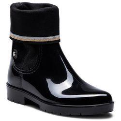 b816290392a84 Kalosze TOMMY HILFIGER - Knitted Sock Rain Bo FW0FW03565 Black 990