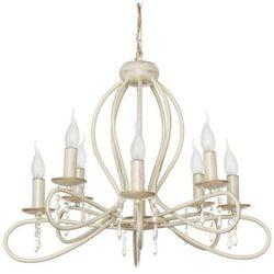 Żyrandol LAMPA wisząca FRESCO 4563 Nowodvorski świecznikowy ZWIS metalowy z kryształkami maria teresa ecru