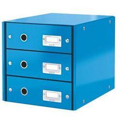 Kontener z szufladami Leitz Click&Store Wow A4, 6048 niebieski