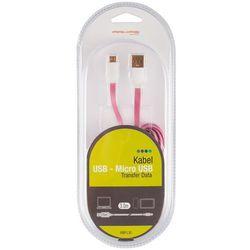 Kabel ARKAS USB Micro MBFL 30 Różowy