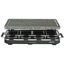 grill elektryczny Raclette 8 z granitową płytą, czarny - SPRING