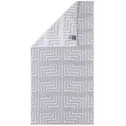 Cawö Frottier ręcznik Decor biały, 50 x 100 cm