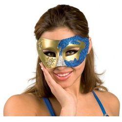 Maska wenecka niebieska