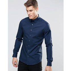 Calvin Klein Skinny Smart Shirt With Stretch - Navy