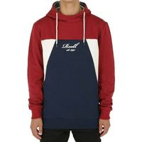 bluza REELL - Color Block Hoodie Red/Navy/Cream (RED-NAVY-CREAM) rozmiar: M