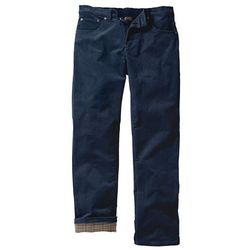 Spodnie sztruksowe ocieplane bonprix ciemnoniebieski