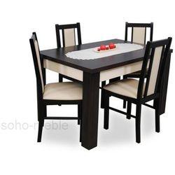 ZESTAW ZEFIR VI stół i 4 krzesła B-14 / TANIO / SOLIDNIE