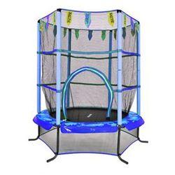 Trampolina domowa dla dzieci Athletic24 140 z siatką - niebieska