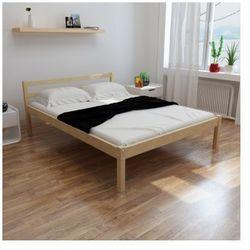 Proste łóżko z drewna sosnowego 200 x 140 cm z materacem Zapisz się do naszego Newslettera i odbierz voucher 20 PLN na zakupy w VidaXL!