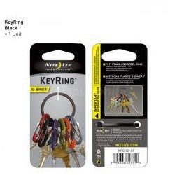 Nite Ize - S-Biner KeyRing - Czarny