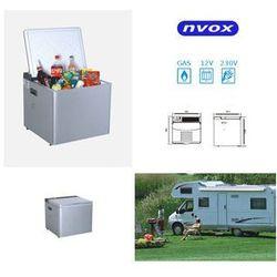 NVOX Lodówka samochodowa 50l, Agregat, Termostat, 12V 230V GAZ