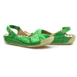 Sandały Carini B1122-649 Jasny zielone lico