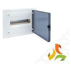 Rozdzielnica,rozdzielnia elektryczna 12 modułów podtynkowa tworzywo, drzwi transparentne HAGER VF112TD