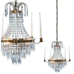 Żyrandol LAMPA wisząca KRAGEHOLM 100602 Markslojd kryształowa OPRAWA świecznikowy ZWIS patyna przezroczysty