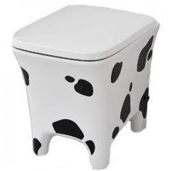Miska WC Artceram Cow CWV002 biało-czarny(łaciaty), 37 x 54 x 42 cm, odpływ poziomy, deska wolnoopadająca CWV002 01; 01