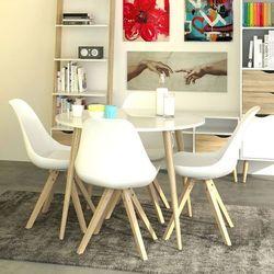 DELTA nowoczesny okrągły biały stół stylu retro