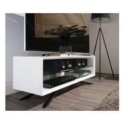Techlink AA110WT - Stolik pod telewizor, biały - wysoki połysk