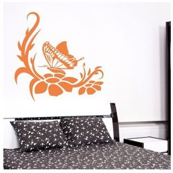 szablon malarski kwiaty motyl kr a75