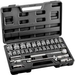 Zestaw kluczy nasadowych TOPEX Zestaw kluczy nasadowych TOPEX 1/2 cala 38D631 (32 elementy)