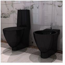 Czarna ceramiczna muszla klozetowa oraz bidet Zapisz się do naszego Newslettera i odbierz voucher 20 PLN na zakupy w VidaXL!