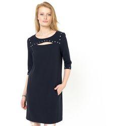 Sukienka z rękawami 3 / 4 ozdobiona napami