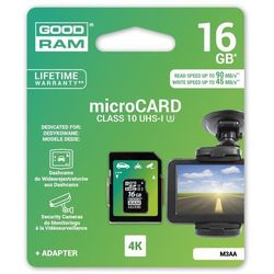 Karta pamięci MicroSDHC GOODRAM 16GB MLC U3 UHS I + adapter 90/45 MB/s