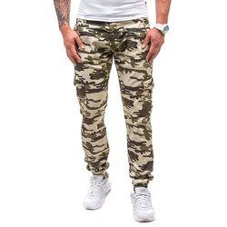 Moro-zielone spodnie joggery bojówki męskie Denley 1111 - ZIELONY