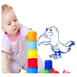 naklejka dla dzieci papuga 108