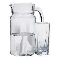 Pasabahce Zestaw - szklanki + dzbanek