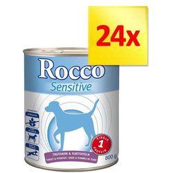 Zestaw Rocco Sensitive, 24 x 800 g - Indyk i ziemniaki