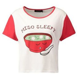 MINKPINK MISO SLEEPY Koszulka do spania red/white