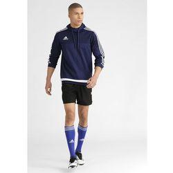 adidas Performance TIRO Bluza z kapturem bleu foncé/blanc