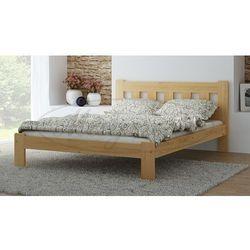 Łóżko drewniane Brita 120x200 z materacem kieszeniowym