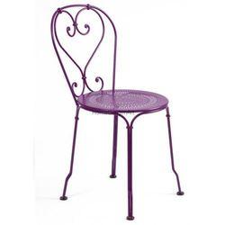 Klasyczne metalowe krzesło ogrodowe Fermob 1900