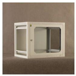 Szafa NetRack szafa wisząca 19, 9U/400 mm popiel, drzwi przeszklone, otwierane boki (019-090-400-021) Darmowy odbiór w 19 miastach!