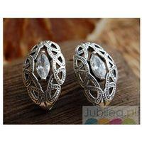 REAL - srebrne kolczyki z kryształem