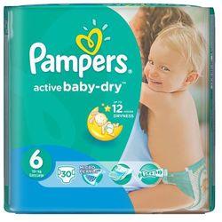 Pampers, Active Baby-Dry, Pieluszki jednorazowe, 2ra Large, Value Pack Minus, 30 szt.