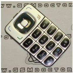 Klawiatura Nokia 6125 / 6136 srebrna