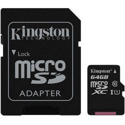 KINGSTON Karta Pamięci z adapterem microSDXC 64GB | SDC10G2/64GB