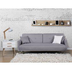 Sofa z funkcją spania szara - kanapa rozkładana - wersalka - LUCAN