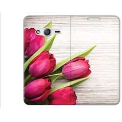 Flex Book Fantastic - Samsung Galaxy Trend 2 Lite - pokrowiec na telefon - tulipany
