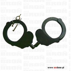 ALCYON Kajdanki POLICYJNE 1-zawiasowe profesjonalne czarne 5236